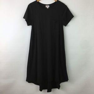 Lularoe Black Carly Dress Size XS Womens Short Slv